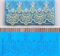 New 2014 Design Silicone Lace Cake Fondant Mats For Coffee Pudding Cake Decoration Mold Moulds High