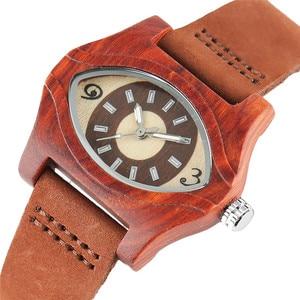 Image 1 - Женские часы с деревянными браслетами, женские этнические винтажные кварцевые часы из натуральной кожи, женские мужские наручные часы из бамбука