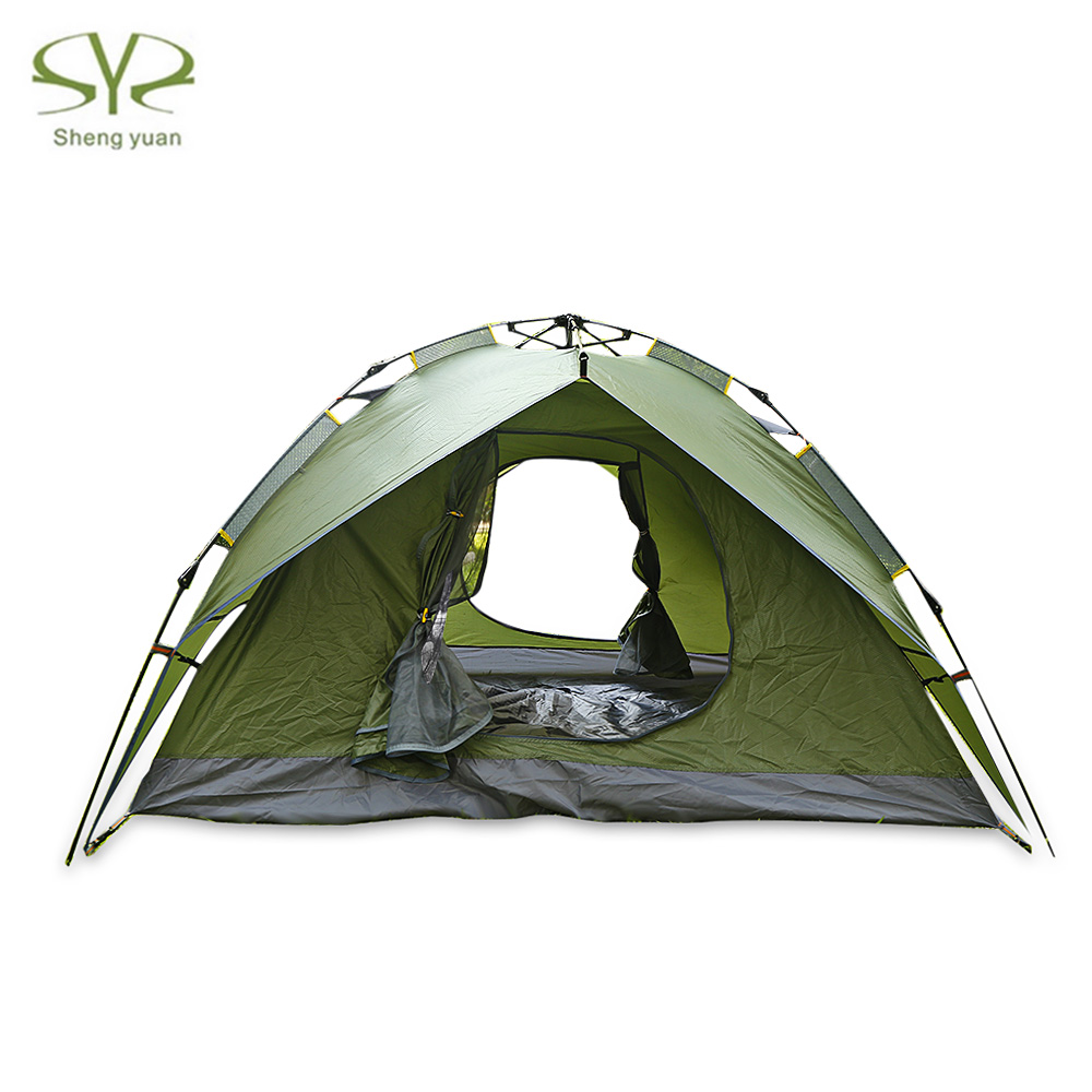Shengyuan Camping Tent Automatic Pop Up 3 - 4 Person Water Resistant Sunscreen Camping Sunshade Fishing Tent Windproof shengyuan outdoor water resistant automatic instant setup two doors 3 4 person camping tent with canopy