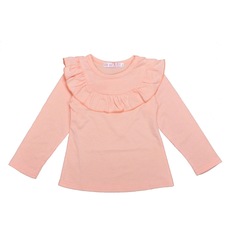 High Quality 2016 Spring Baby Girls Clothing T-shirts Fashion Multilayer Lace Long-sleeve Tops Shirts Kids Princess Tees Moletom