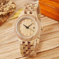 Men Women Wood Bamboo Watch Mens Rosewood Cherry Wooden Wristwatch Strap Ladies Bracelet Clock Retro Minimalist Quartz Watches
