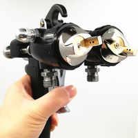 Nano Chrom Dual Kopf Pneumatische Sprayer Heißen Auf Verkäufe, professionelle Malerei Werkzeuge wasser-kleber auf wasserbasis spray 1,4mm dual pistole Spraye