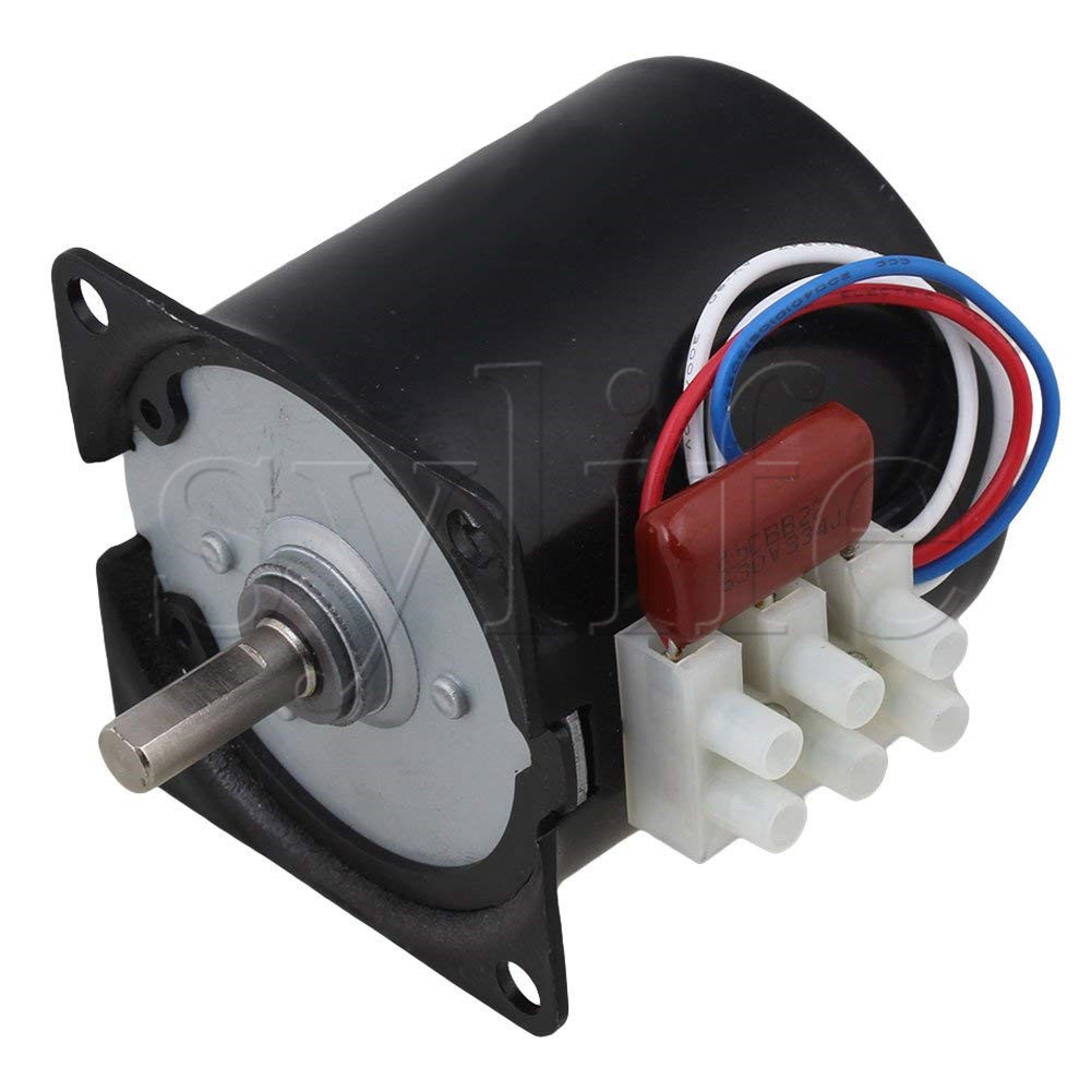 A60KTYZ 80RPM AC220V Synchronous Speed Reduction Gear Motor with 7mm Shaft Dia ручной инструмент die 14 5 7mm 20 dia