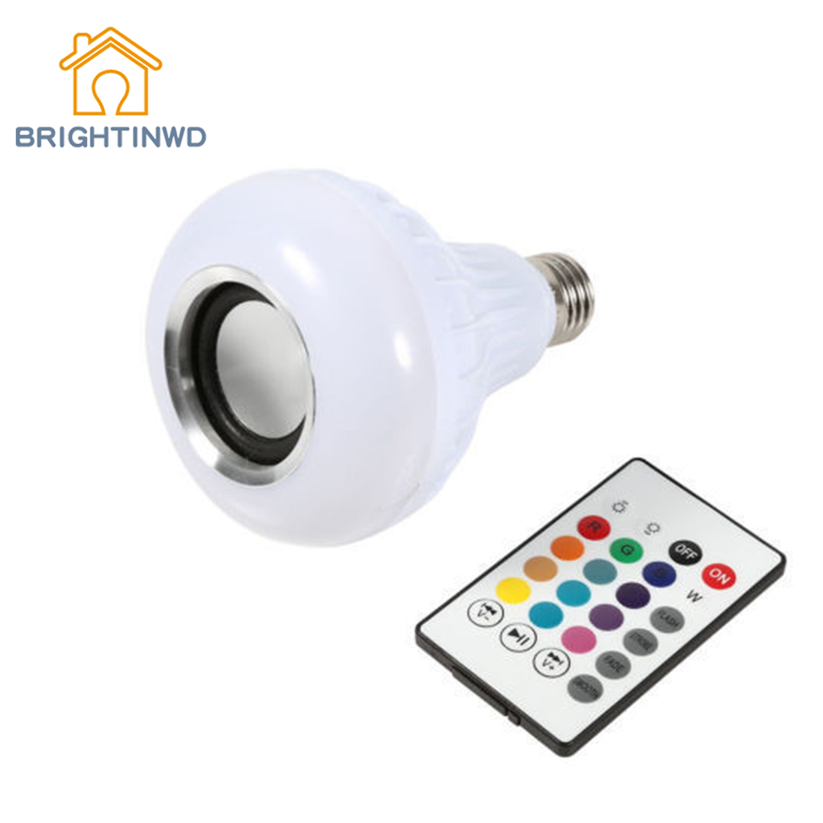 LED Wireless Bluetooth Bulb Light Speaker 12W RGB Smart Music Play Lamp+ RemoteX wireless bluetooth speaker led audio portable mini subwoofer