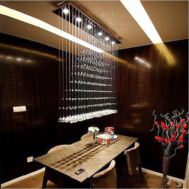 Современный художественный кристалл покрытие Современные светодиодные Кристалл Потолочный светильник с 6 огни люстры де cristal Бесплатная д...