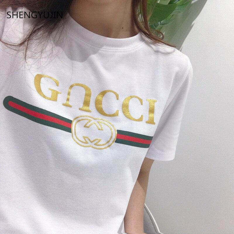 2019 New Women T shirts Casual Harajuku Love Printed Tops Tee Summer Female T shirt Short Sleeve T shirt For Women Clothing