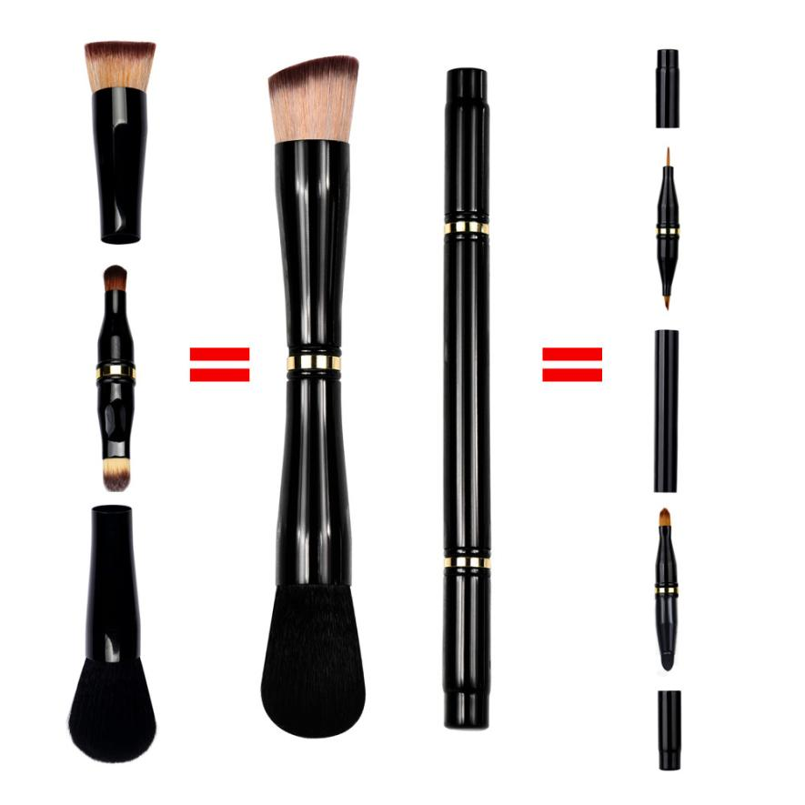1Set Retractable Makeup Brush Portable Beauty Foundation Lip Eyeliner Brushes Pinceau Maquillage#0521 1 pc eyeshadow brushes sponge portable cosmetics makeup eye shadow eyeliner lip brush applicator for women beauty maquillage z35
