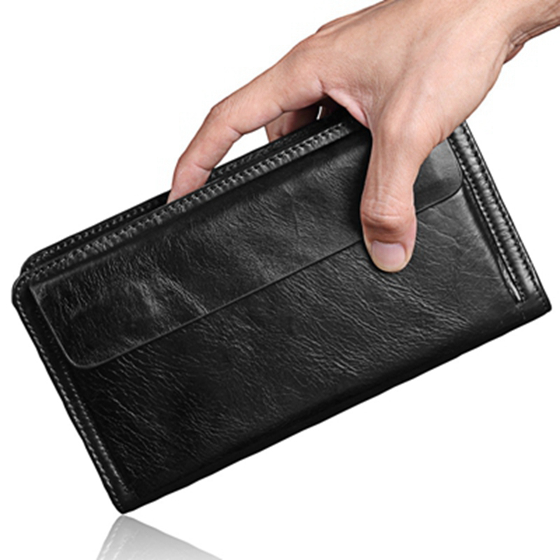 100% Genuine Leather Men Wallet Small Zipper Men Purse High Quality Male Short Coin Purse Brand Designer Carteira wallets hand