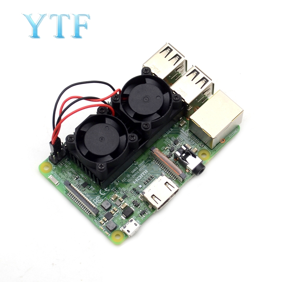 Raspberry Pi 3 B Dual Fan Ultimate Heatsink Cooler With Double