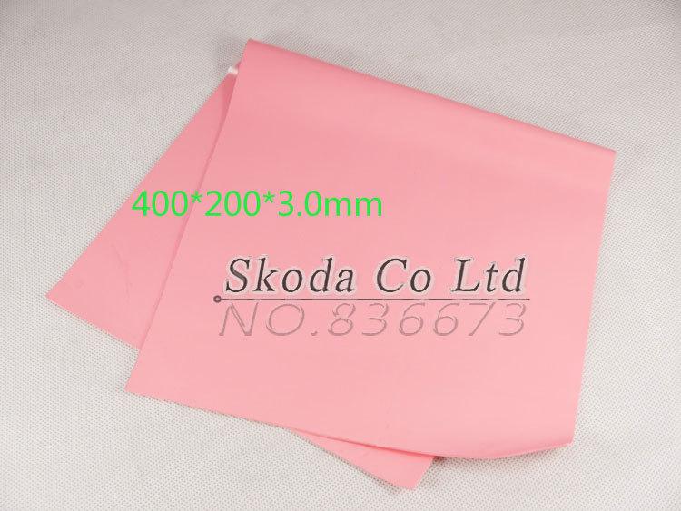 free shipping pink Thermal Conductive Silicone Pad 400*200*3.0mm Thermal Conductivity 4w/m-K GPU CPU Heatsink Cooling gpu cpu heatsink cooling thermal conductive silicone pad 100mmx100mmx0 5mm