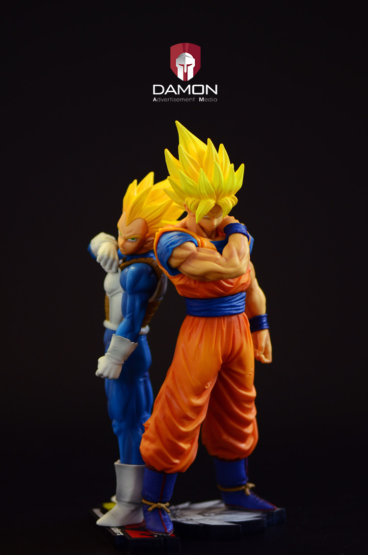 MODEL FANS dragon ball z Original BANPRESTO ros goku and vegeta contain special effect base chris wormell george and the dragon