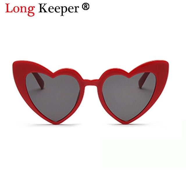 999afe17d طويل حارس القط العين النظارات للنساء شكل قلب إطار نظارات ملونة 2018 الموضة  تتجه السيدات مثير