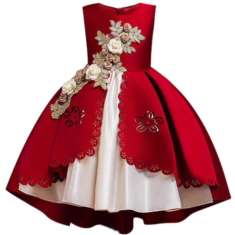 Детское вечернее платье, банкетное платье принцессы, 2019 год, платье для торжеств с аппликацией для девочек, платья для первого причастия, платье для свадебной вечеринки