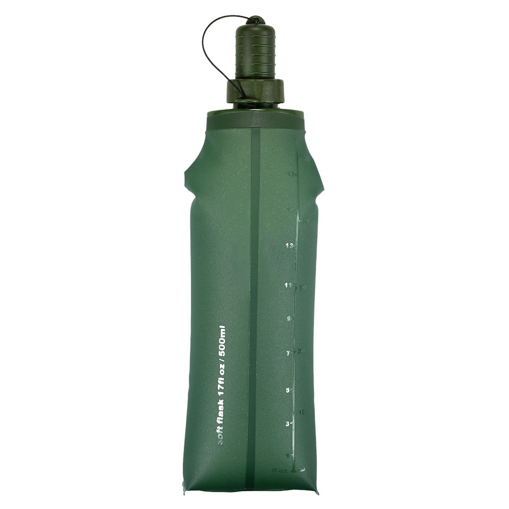 Image 2 - TPU Folding Soft Flask Sport Water Bottle Running Camping Hiking Water Bag Collapsible Drink Water Bottle Water Bag-in Water Bags from Sports & Entertainment