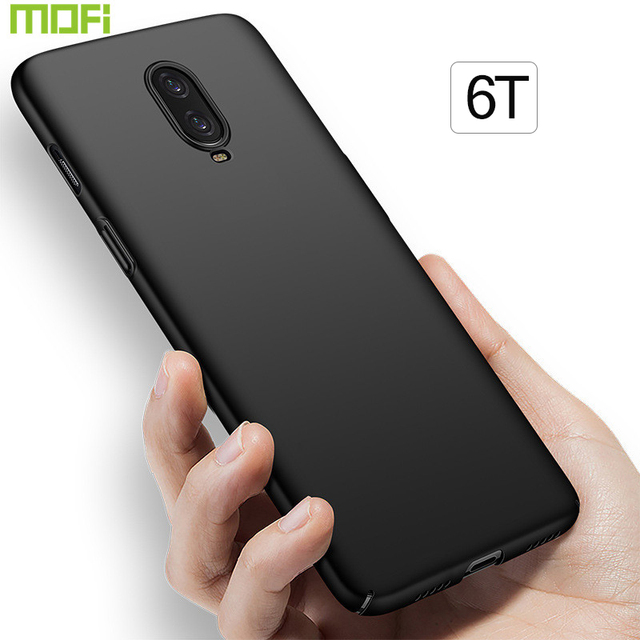 detailed look 73a16 b63ff US $6.48 28% OFF Oneplus 6T Case Cover Mofi One Plus 6T Case Pc Hard Back  Cover Soild Color Thin Red Black 1+6T Oneplus6T Case Capa Coque Funda-in ...