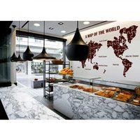 Dünya Haritası Duvar Çıkartmaları Büyük Yeni Tasarım Sanat Desen Haritası Duvar Çıkartması Vinil Çıkartmaları Dünya Haritası Poster Sticker