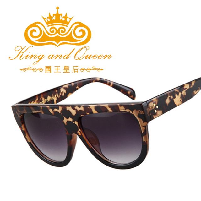 Fashion Steampunk Women Brand Designer 2016 Luxury Gradient Ladies Sunglasses Retro Vintage Acetate Shades