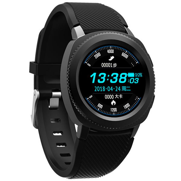 Microwear L2 Sports Smart Watch 1.3 Inch MTK2502 32MB RAM 32MB ROM Heart Rate / Sleep Monitor / Pedometer / IP68 Water-Resistant fly ts112 32mb black