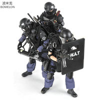 1/6 Scale Toy Soldiers Figures Action Model SWAT Soldier Figurines Army Police Action Figure Boys Toys Birthday Christmas Gift