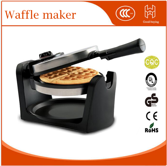 Geman Non-stick Automatic Household Home Electric Rotary Egg Waffle Maker Pancake Machine Cooking Tools