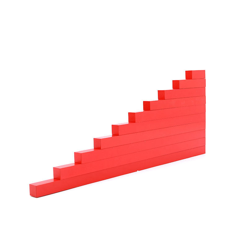 Wooden Montessori Toys For 3 Year Olds Montessori Red Rods Learning Educational Toys For Kids Juguetes Brinquedos MI2744H