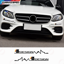 Design Graphics Decals Car Front Bumper Eyebrow Decor Stickers For Mercedes-Benz AMG A/B/C/E class W203 W204 W211 W213 W214