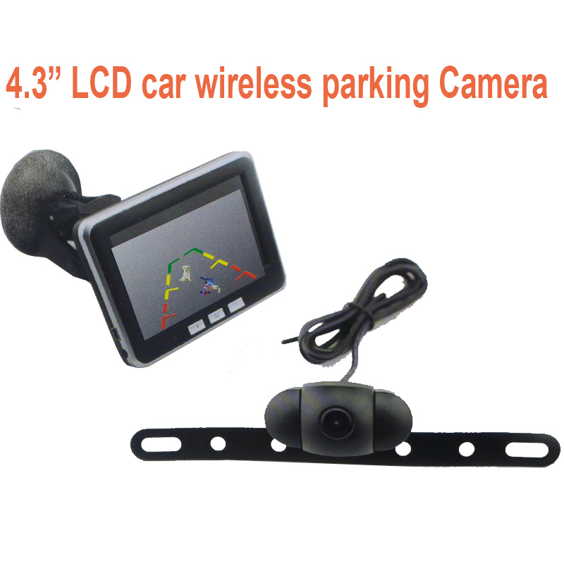 CCTV camera 4.3 LCD display monitor wireless camera ok for car rearview drive  portable 4.3 LCD display ok for parking camera