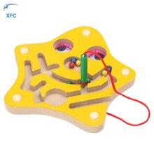 XFC Enfants Enfants Magnétique En Bois Labyrinthe Puzzle Jouet Éducatif Labyrinthe Jeu Puzzle De Noël De Noël D'anniversaire Jouet Cadeau
