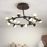 modern art 20 heads white black LED ceiling lamp living room led office big bedroom lamp ceiling light ZA923427