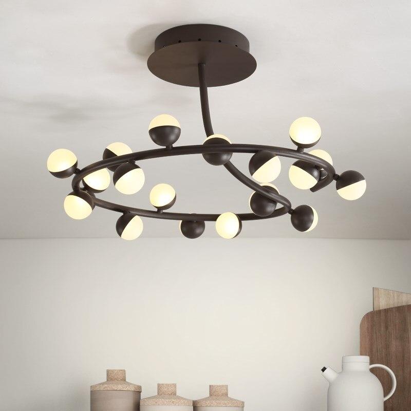 Moderne Kunst 20 Kpfe Weiss Schwarz LED Deckenleuchte Wohnzimmer Led Bro Big Schlafzimmer Lampe ZA923427