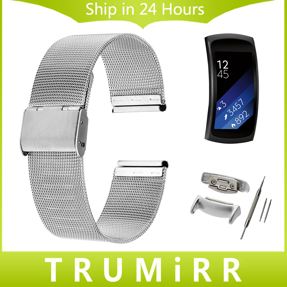 18mm Milanese Watchband with Adapters for Samsung Gear Fit 2 SM-R360 Smart Watch Band Stainless Steel Strap Wrist Belt Bracelet gear fit2 watch band gear fit2 stainless steel bracelet strap replacement band wristband for samsung gear fit 2 sm r360