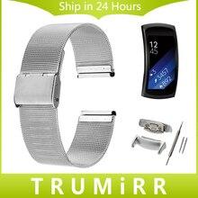 18mm Milanese Bracelet avec Adaptateurs pour Samsung Gear Fit 2 SM-R360 Smart Watch Bande Bracelet En Acier Inoxydable Poignet Ceinture Bracelet