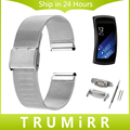 18mm correa milanese con adaptadores para samsung gear fit 2 sm-r360 smart watch band correa de pulsera de acero inoxidable pulsera de la correa