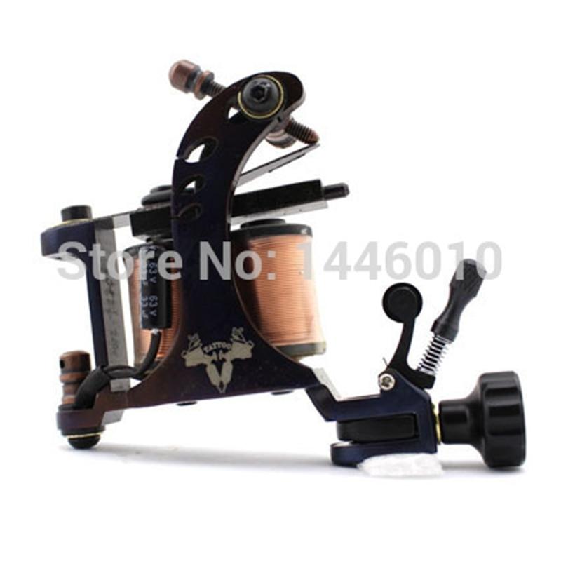 ФОТО Handmade Tattoo Machine Professional Casting Iron 10 Wraps coil High Quality Tattoo Machine Gun For Shader Liner Free Shipping