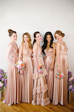 Sexy Mix Style Sweetheart V-Neck Maid Of Honor Backless Vestido Festa Coral Cheap Long Bridesmaid Dress 2014