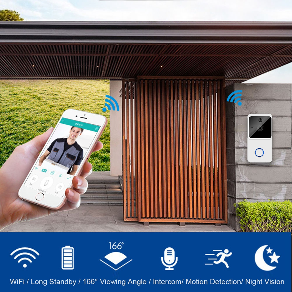 New ZC-IP03S 720P Wifi Camera Doorbell Wireless Battery Operated Doorbell Support Mobile Phone Monitoring Two-way Voice IntercomNew ZC-IP03S 720P Wifi Camera Doorbell Wireless Battery Operated Doorbell Support Mobile Phone Monitoring Two-way Voice Intercom