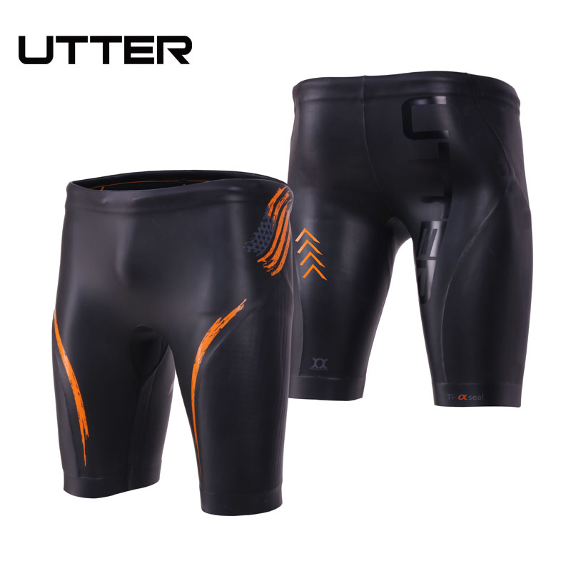 c91e0a71c9ad2 UTTER Jammer E2 Men 3mm Triathlon Yamamoto Elastic Neoprene Buoyancy Shorts  CR Smooth Skin Diving Pants