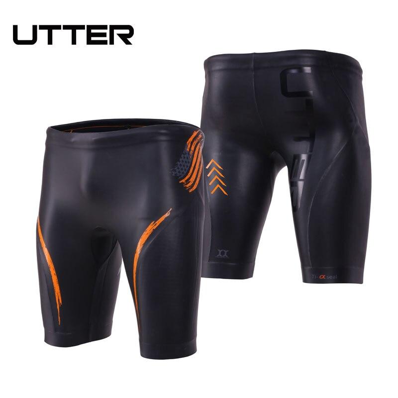 UTTER Jammer E2 Men Smooth Skin Triathlon Yamamoto Neoprene Swimming Buoyancy Shorty Pants Swimsuit Speedo Men Bathing Swimwear цена