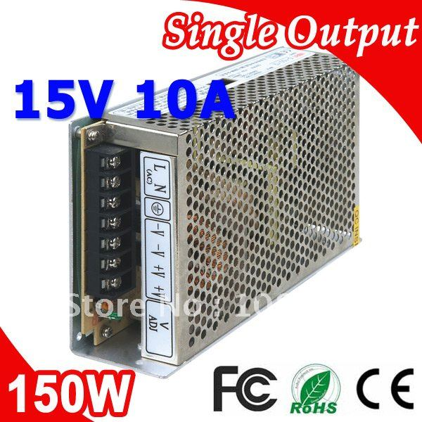 S-150-15 LED Switching Power Suply Transformer 150W 15V 10A Output AC-DC