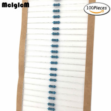 MCIGICM 100 шт. 1/4W металлический пленочный резистор резисторы, 47(Европа) K 100K 150K 220K 0,33-2,2 M Ом