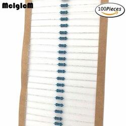 MCIGICM 100 шт. 1/4 Вт резисторы в металлической пленке 47K 100K 150K 220K 0,33-2,2 M Ом