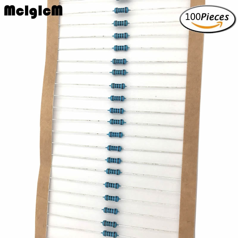 MCIGICM 100pcs 1/4W Metal Film Resistor Resistors 47K 100K 150K 220K 0.33-2.2M Ohm