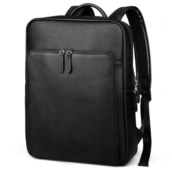 New Fashion Large Capacity Travel Male Backpack Casual Shoulder Bag Brief Genuine Leather Laptop Bag Korean Style Schoolbag C206