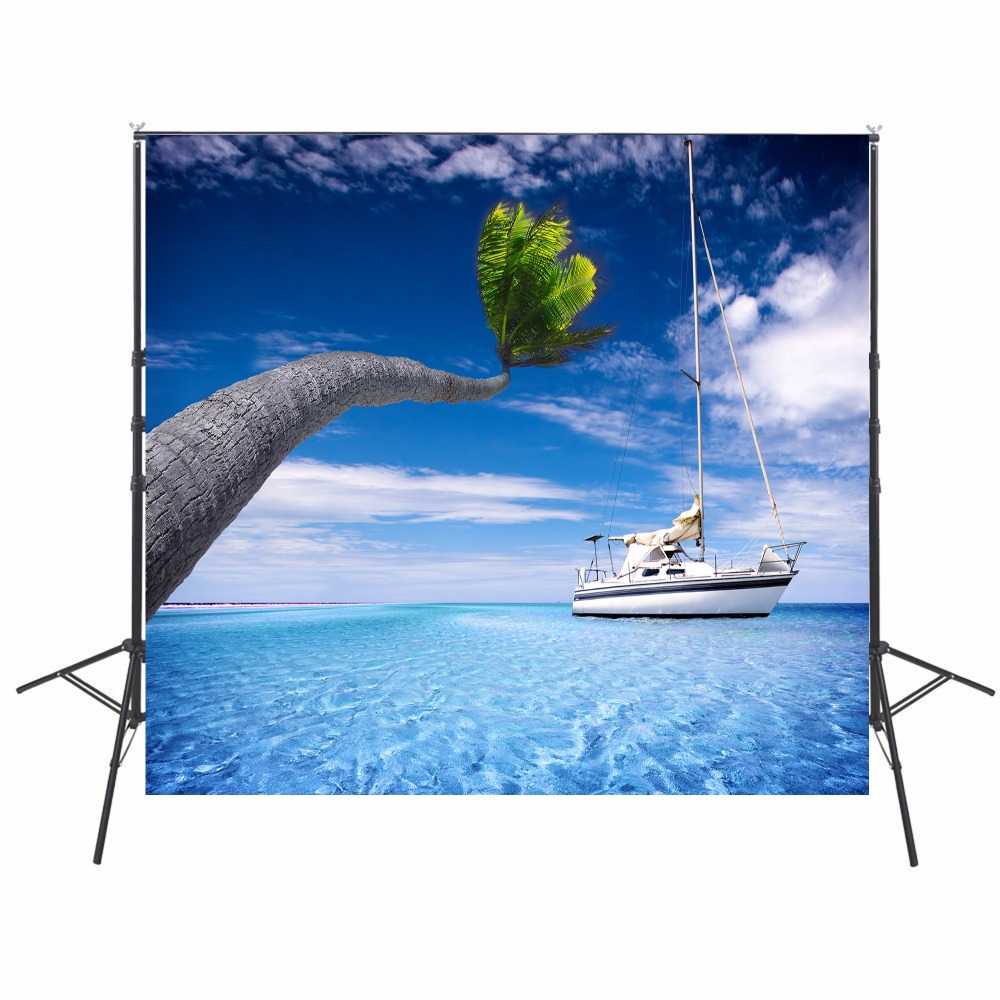Background Painstaking Ocean Photography Backdrop Hawaii Vinyl Backdrop For Photography Photocall Cruise Ship Background For Photo Studio Cortina Photo Studio