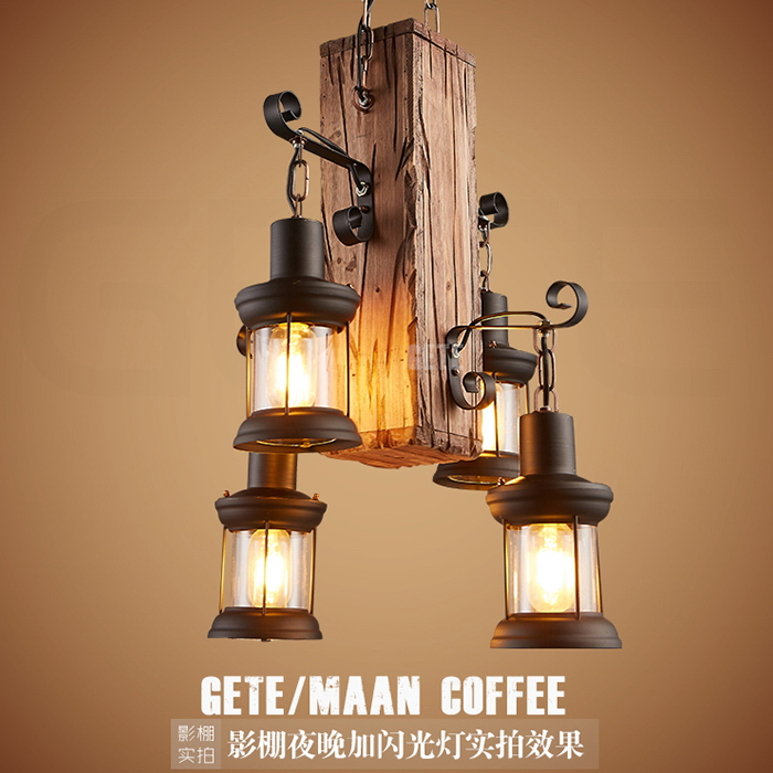 Retro Creative Vintage Pendant Lights AC E27 Iron Art Wood Metal Material Loft Style Lamp For Cafe Bar Restaurant Home free shipping cy041 loft vintage style metal painting home pendant lights lamp page 6