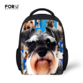 FORUDESIGNS Fashion Children 3D Animal School Bags Baby Boys Dog Printing Bagpack 12 Inch little Kids Casual-bag school Book Bag