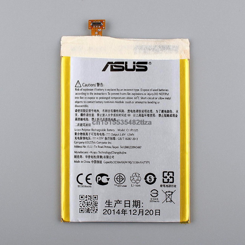 100 Original Genuine Replacement Battery For ASUS ZenFone 6 Z6 C11P1325 3330mAh