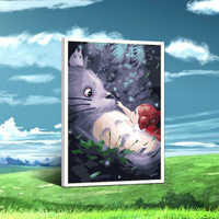 painting by numbers art paint by number Japanese cartoon Totoro Hayao Miyazaki I colored filling region diy oil manual love f