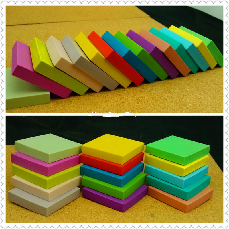 5 PCS/set 5 * 5 * 1 cm DIY professional rubber brick carving rubber candy color Rubber Stamps for Scrapbooking free shipping