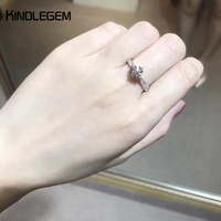 Kindlegem Sparkling Big CZdiamond 925 Sterling Silver Ring For Women Fashion Famous Brand Jewelry Party Wedding